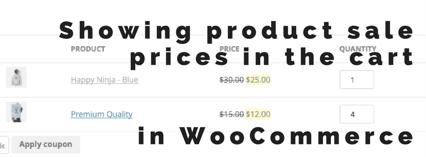 Showing sale prices in the cart - in WooCommerce | Jeroen